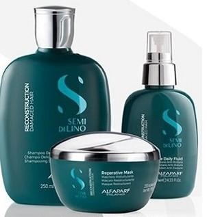 Semi Di Lino Reconstruction Shampoo, Conditioner and daily fluid leave in